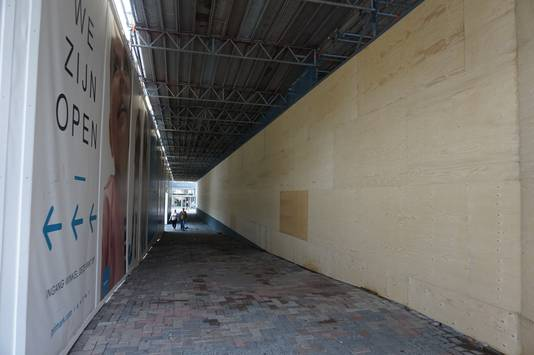 Een deel van het kunstwerk is al weggehaald, het verhuist naar de nieuwe route.