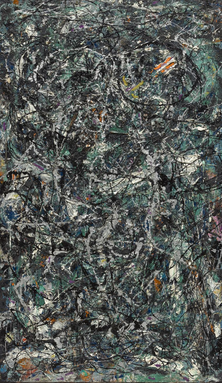 Full Fathom Five van Jackson Pollock Beeld The Museum of Modern Art, New York/Scala, Florence