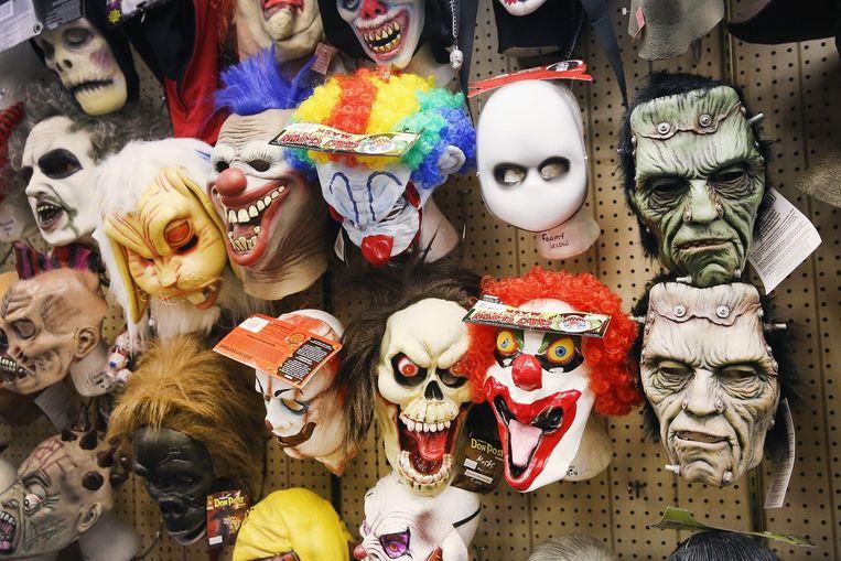 Halloweenmaskers Beeld afp