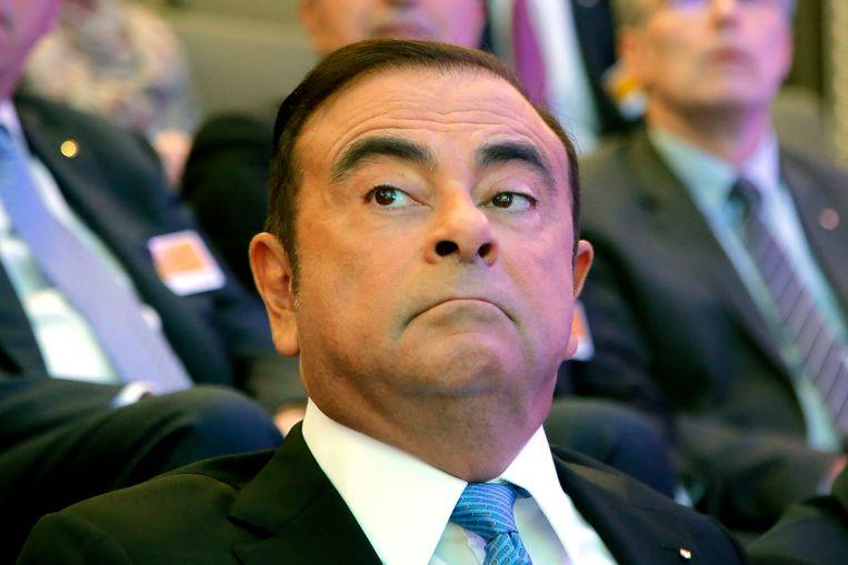 Carlos Ghosn in 2017. De gevallen topman klaagt al langere tijd dat er sprake is van een complot tegen hem en zegt dat hij niets heeft misdaan.