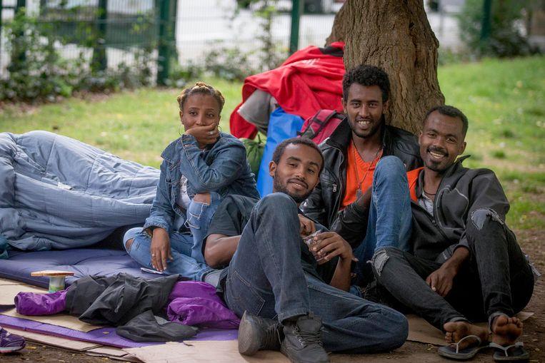 Vluchtelingen in Brussel (archiefbeeld)