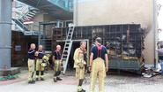 Serviceflats ontruimd na brand in bijgebouw