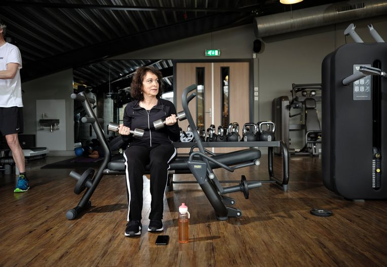 Shula Rijxman in de sportschool. Beeld null