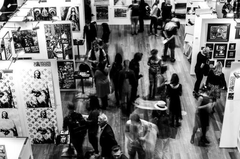 De kunstbeurs tijdens de editie in 2015 Beeld Amsterdam International Art Fair