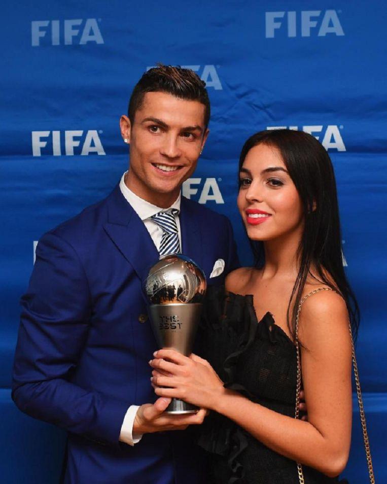 Ronaldo met zijn huidige vriendin Georgina Rodriguez. De twee zijn samen sinds juni.