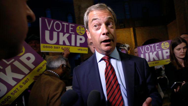 UKIP-leider Nigel Farage Beeld REUTERS