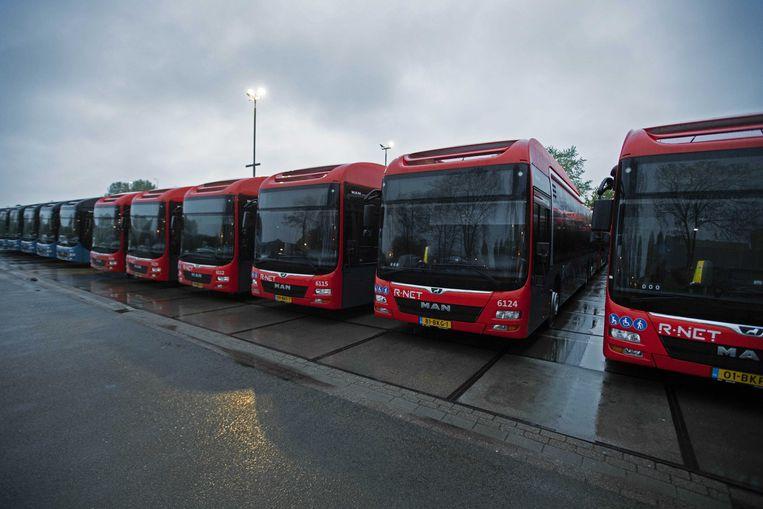 Is er bij de bestelling door vervoersbedrijf Keolis van elektrische bussen uit China fraude gepleegd? Beeld ANP