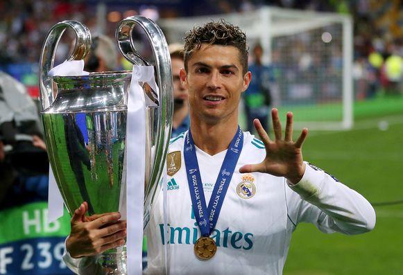 Ronaldo win vijf keer de Champions League.