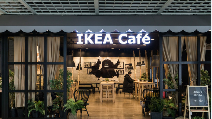 IKEA Café in Beijing, China.