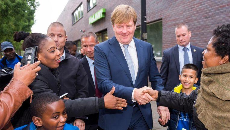 Koning Willem-Alexander op bezoek in Amsterdam. Beeld anp