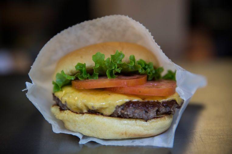 De Shake Shack Cheeseburger Beeld null
