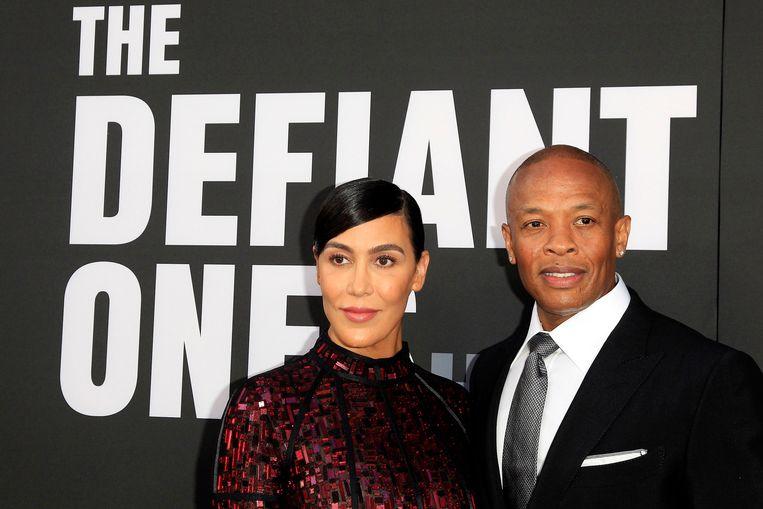 Dr. Dre en zijn ex-vrouw Nicole Young.