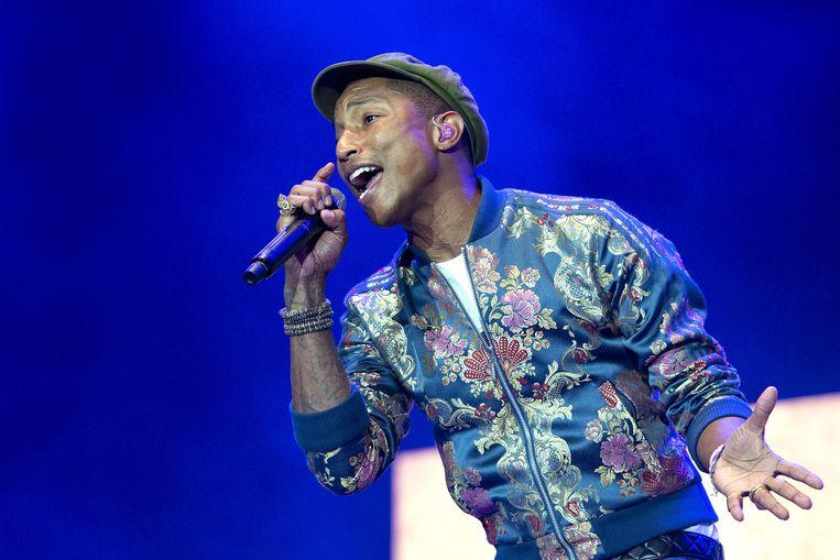 Pharrell Williams op Pinkpop: 'Hello Amsterdam' Beeld anp