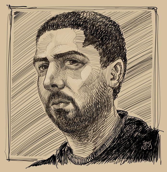 Een portret van Mehdi Nemmouche.