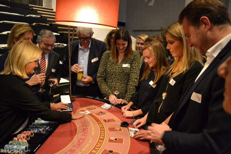 Tijdens de Warmste Casino werd er met fictief geld gegokt voor het goede doel