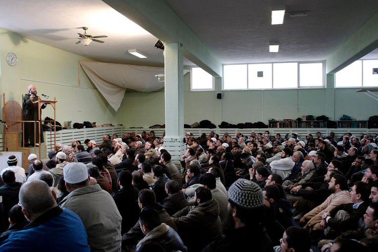 Jneid in de As Soennah-moskee in Den Haag. Beeld ANP