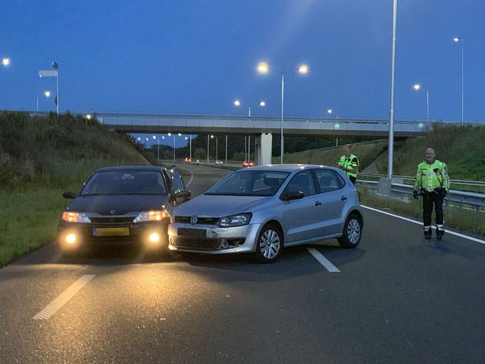 Aanrijding met politie voertuig Berlicum