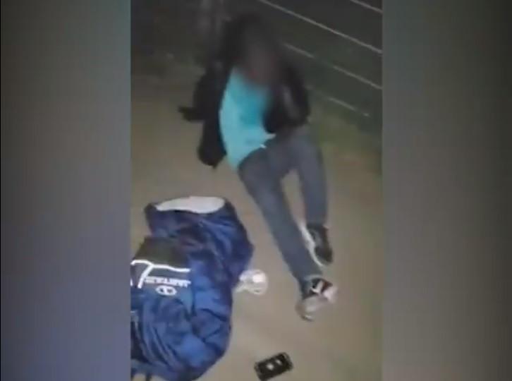 La vidéo de la victime après l'agression a été diffusée sur Facebook.