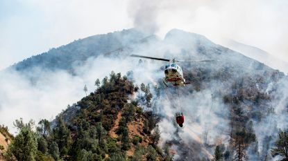 Natuurbrand bedreigt Yosemite National Park in de Verenigde Staten