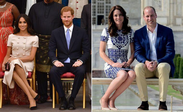Meghan Markle (links) en Kate Middleton