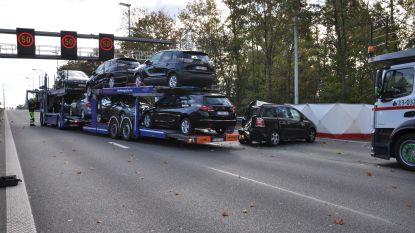 Vrachtwagen rijdt in op file E40 Drongen, automobilist (66) overlijdt