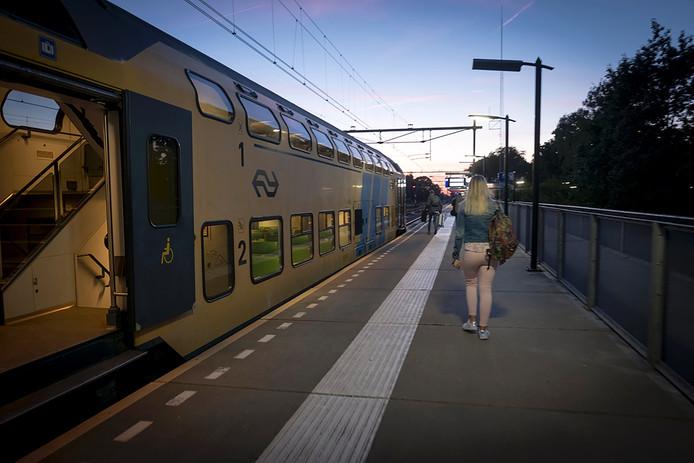 anaf deze plek, station Ede-Wageningen, werd de 18-jarige Edese meegenomen door drie mannen. De vrouw op de foto is niet het slachtoffer.