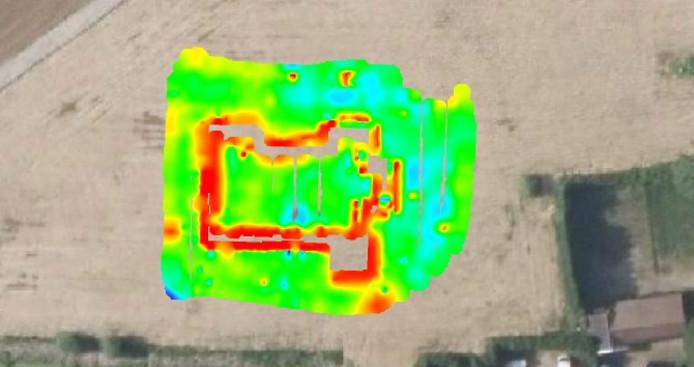 Radaronderzoek bevestigt dat de fundamenten van Kasteel Ressen nog aanwezig zijn.