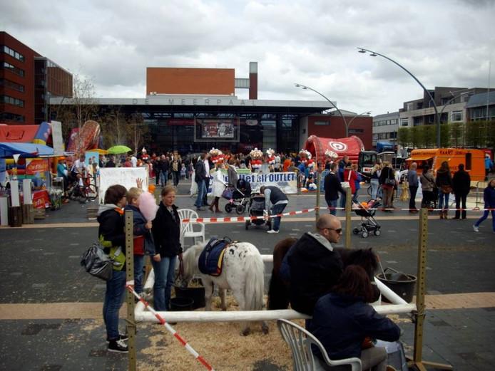 Een evenement op het Redeplein.