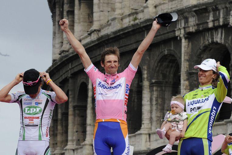 Mentsjov wint de Giro. Beeld epa