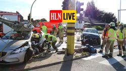 Zes gewonden waaronder drie kindjes bij frontale aanrijding: vermoedelijk werkten verkeerslichten niet