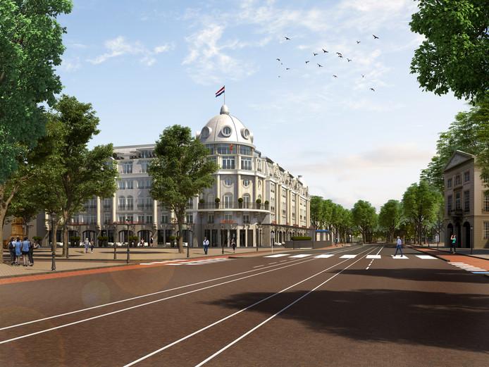 De visie van Geerling. ,,Vergelijkbaar met het Ritz Carlton in Parijs.''