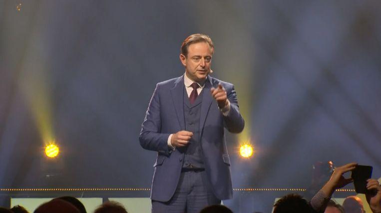 Bart De Wever tijdens de nieuwjaarsspeech in Mechelen.