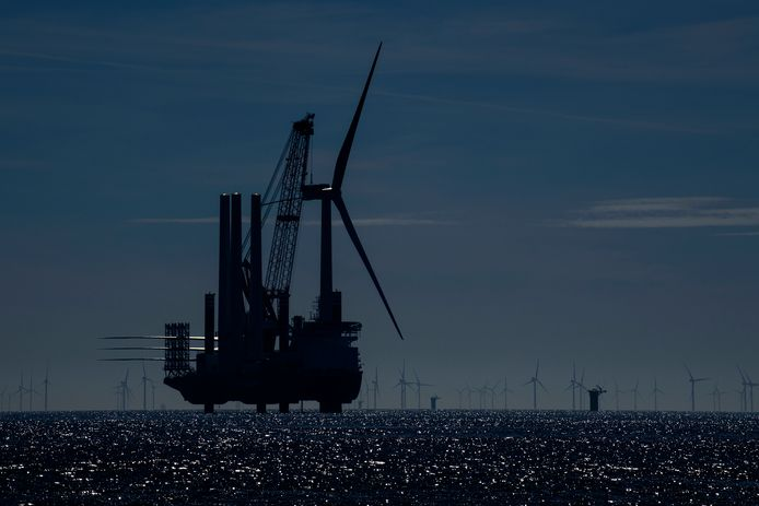 Windpark Borssele voor de Zeeuwse kust.