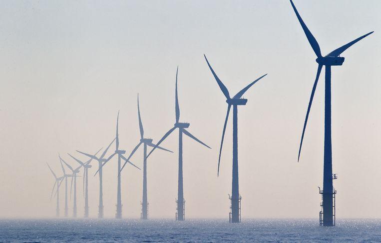 Windmolenpark bij Egmond aan Zee. Beeld anp