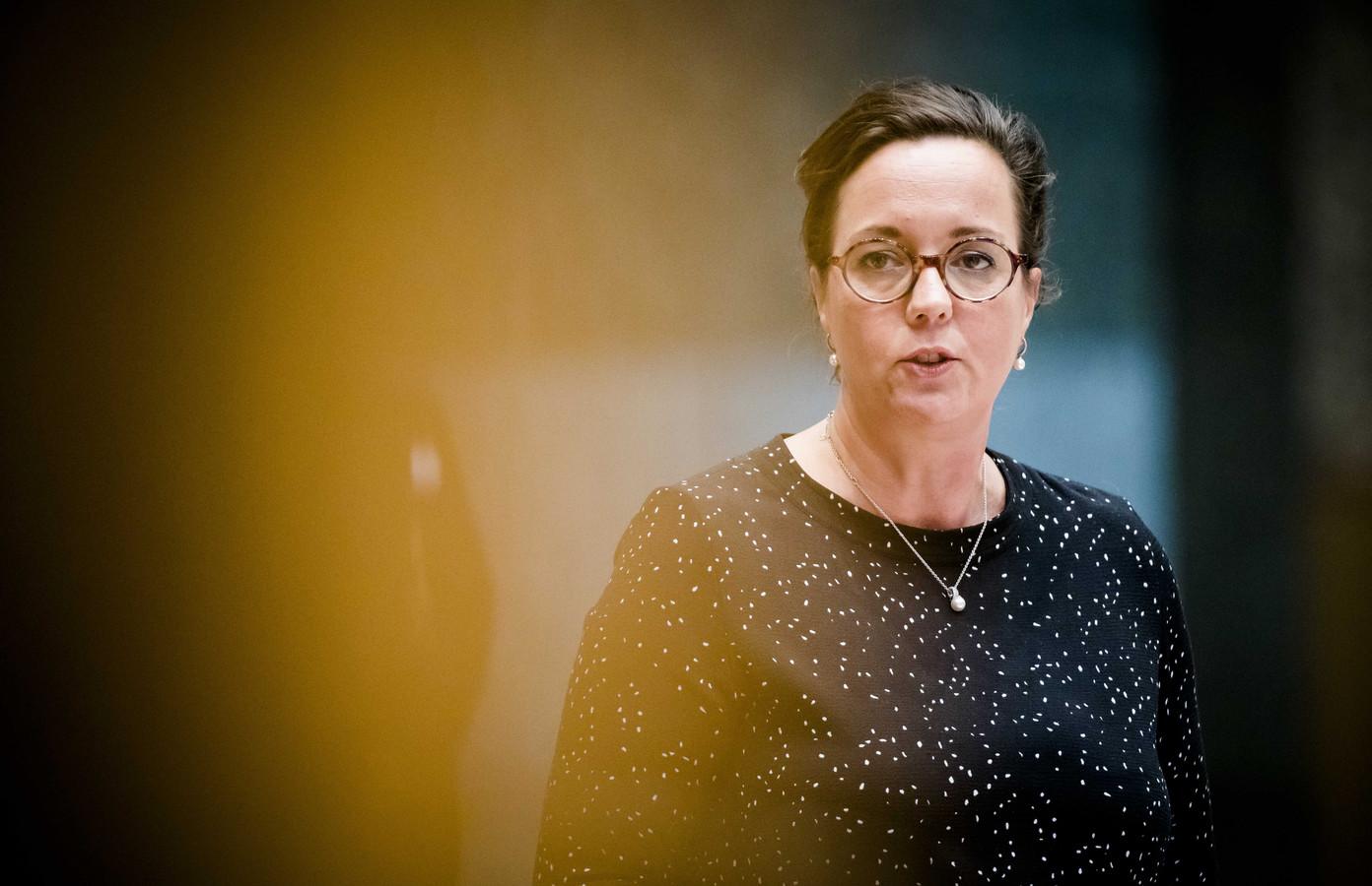 Staatssecretaris Tamara van Ark van Sociale Zaken en Werkgelegenheid (VVD) tijdens het wekelijkse vragenuurtje.