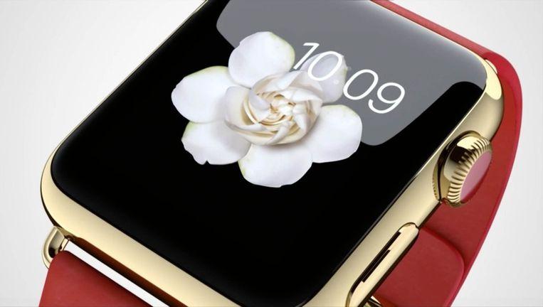 Een van de zes gouden Apple Watch Edition-modellen.