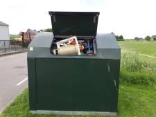 Gasfles gevonden in container Biervliet