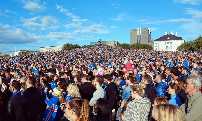 De verwelkoming in IJsland. Foto: ANP