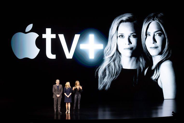 Steve Carell, Reese Witherspoon en Jennifer Aniston zullen vanaf het najaar in de VS te zien zijn via Apple tv+.