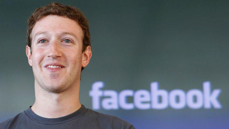 Mark Zuckerberg, de grondlegger en baas van Facebook. Beeld AP