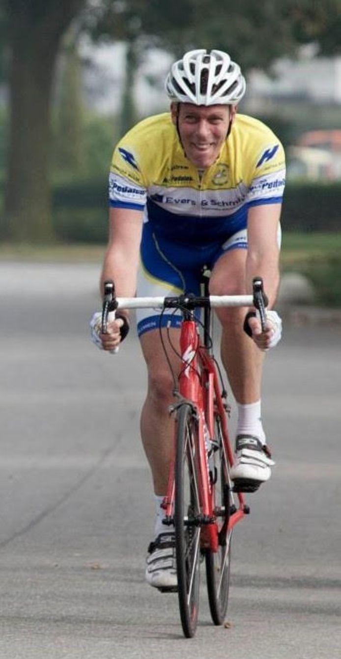 Berry Huntink op de fiets.