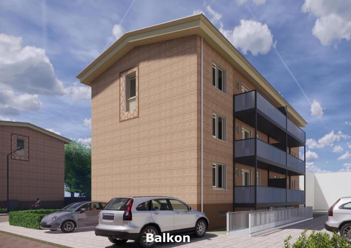 Nieuwe en grotere balkons voor alle onder handen te nemen appartementen in Huissen.