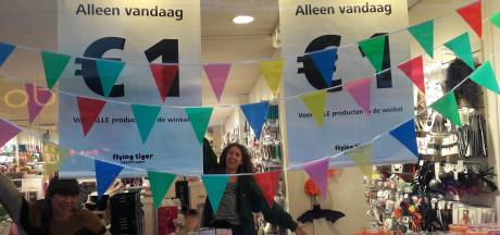 Flying Tiger in Enschede viert jubileum: voor één dag alles te koop voor 1 euro