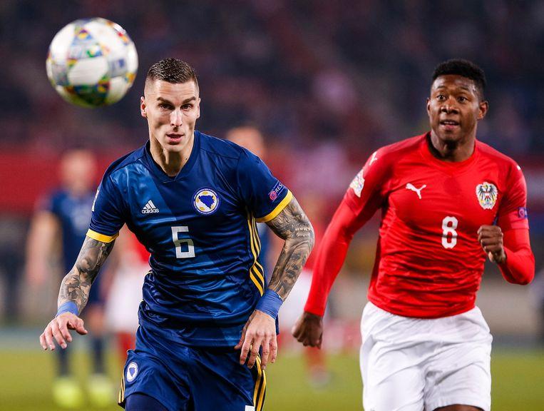 Ognjen Vranjes in actie met de Bosnische nationale ploeg.