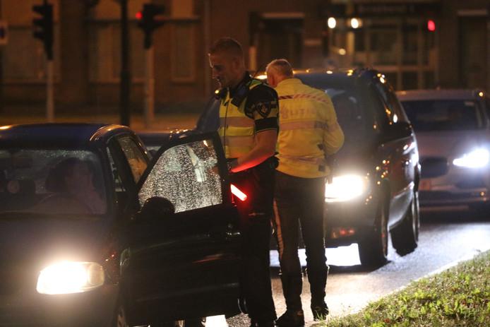 Al het verkeer dat het centrum van Apeldoorn verliet werd gecontroleerd.