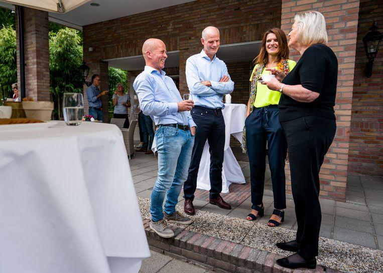 V.l.n.r.: staatssecretaris Raymond Knops, minister Stef Blok, staatssecretaris Barbara Visser en staatssecretaris Ankie Broekers-Knol. Beeld