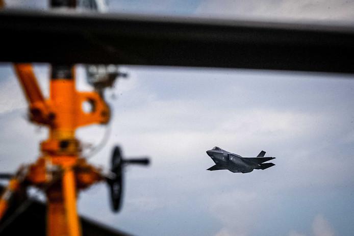 De F-35, beter bekend als JSF (Joint Strike Fighter) in actie tijdens de Luchtmachtdagen op Volkel.