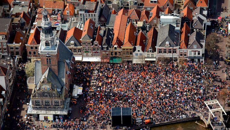 De binnenstad van Alkmaar tijdens een eerdere editie van SLAM!. Beeld anp