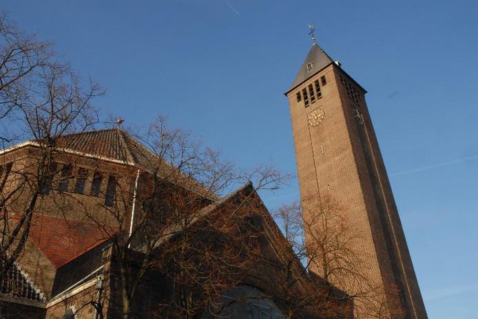 De toren van de Lourdeskerk in Bergen op Zoom.