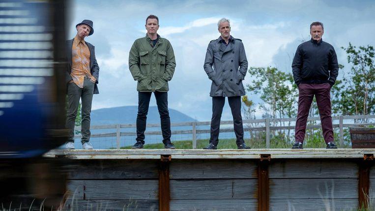 Ewen Bremner, Ewan McGregor, Jonny Lee Miller and Robert Carlyle in een scène van T2. Beeld EPA/Berlinale